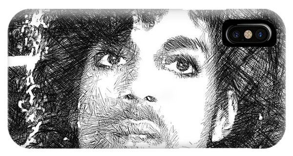 Prince - Tribute Sketch In Black And White 3 IPhone Case