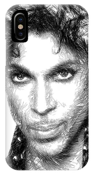 Prince - Tribute Sketch In Black And White IPhone Case