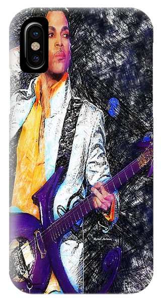Prince - Tribute With Guitar IPhone Case