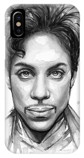 Dove iPhone Case - Prince Watercolor Portrait by Olga Shvartsur