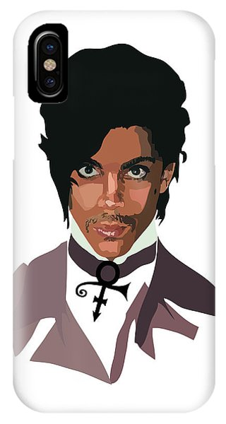 Purple Rain iPhone Case - Prince With Symbol by Anna McKay