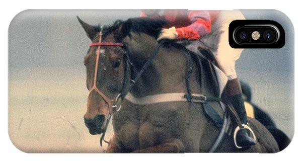 Travelpics iPhone Case - Princess Anne Riding Cnoc Na Cuille At Kempten Park by Travel Pics