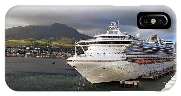 Princess Emerald Docked At Barbados IPhone Case