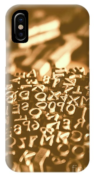 Ink iPhone Case - Print Industry Typographic Letters And Numbers by Jorgo Photography - Wall Art Gallery
