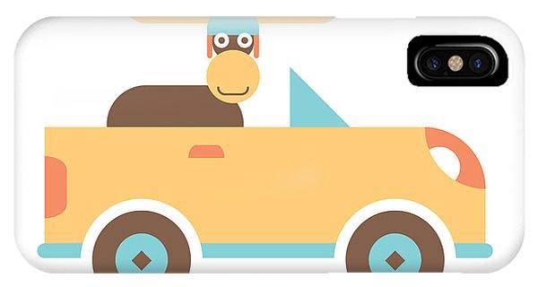 Boys iPhone Case - Moose Road Trip by Mitch Frey