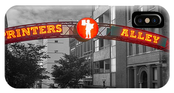 Printers Alley Sign IPhone Case