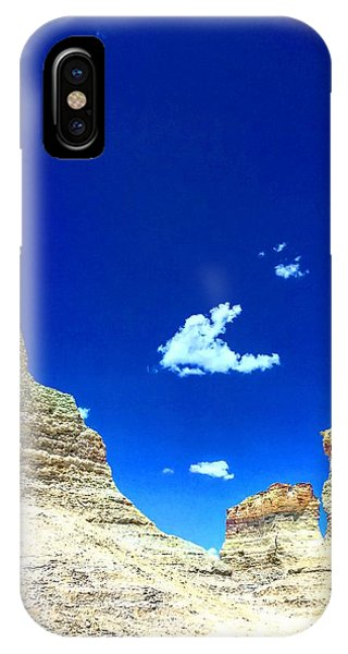 Pristine Sky Meets Historic Rocks IPhone Case