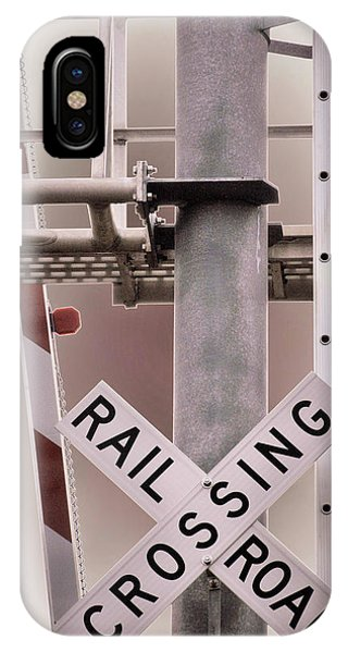 Railroad Signal iPhone Case - Proceed With Caution by Marnie Patchett