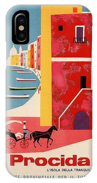 Advertising iPhone Case - Procida - Naples, Italy - The Island Of Tranquility - Retro Travel Poster - Vintage Poster by Studio Grafiikka
