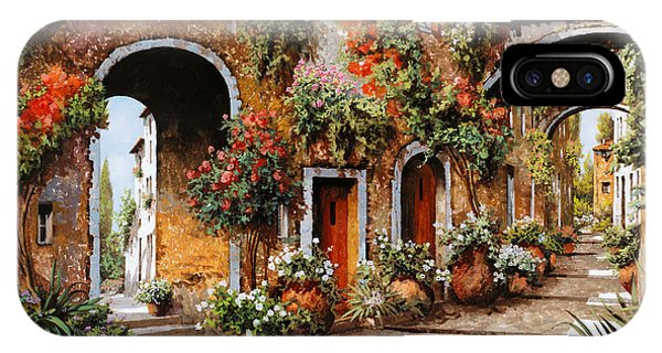 Arched iPhone Case - Profumi Di Paese by Guido Borelli