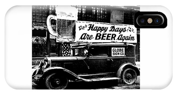 Prohibition Happy Days Are Beer Again IPhone Case