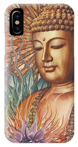 IPhone Case featuring the digital art Proliferation Of Peace - Buddha Art By Christopher Beikmann by Christopher Beikmann