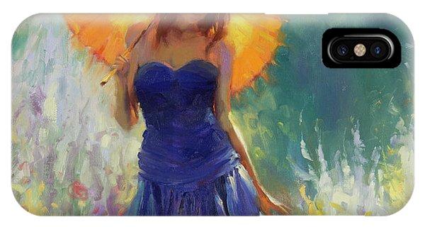 Red Hair iPhone X Case - Promenade by Steve Henderson