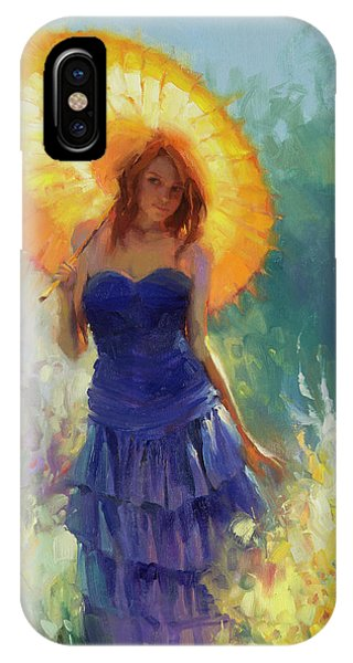 Cobalt Blue iPhone Case - Promenade by Steve Henderson