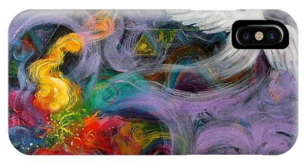 Prophetic Message Sketch Painting 10 Divine Pattern Dove IPhone Case