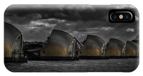 Flooded iPhone Case - Protecting The City by Nigel Jones