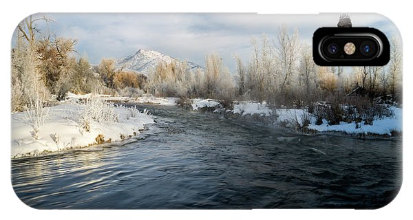 Provo River In Winter IPhone Case
