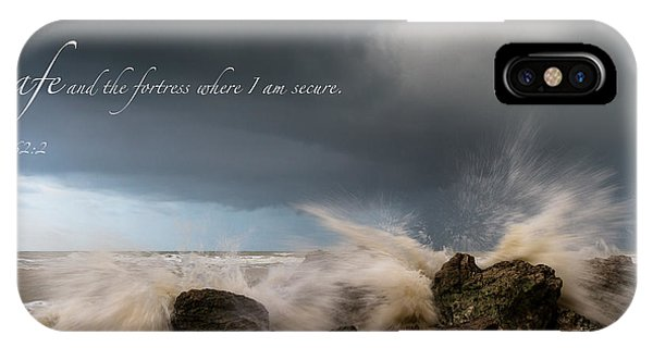 Psalm 62 2 IPhone Case