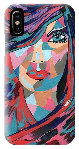 Psychedelic Jane - Contemporary Woman Art IPhone Case