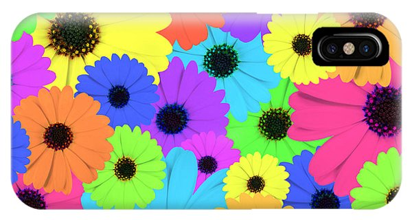 Psychedelic Marigold Flowers IPhone Case