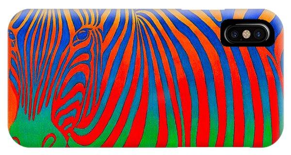 Psychedelic Rainbow Zebra IPhone Case