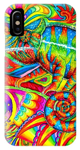 Psychedelizard IPhone Case