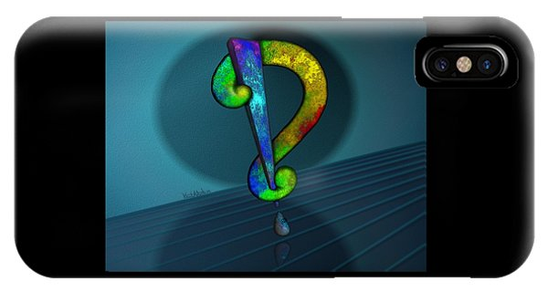 Psychedelic Interrobang IPhone Case