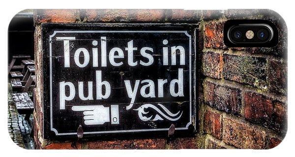Toilet iPhone Case - Pub Sign by Adrian Evans