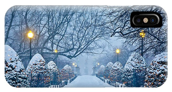 Public Garden Walk IPhone Case