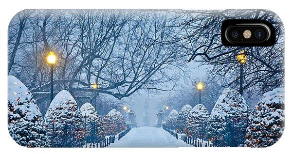 Massachusetts iPhone Case - Public Garden Walk by Susan Cole Kelly