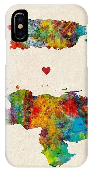 South America iPhone Case - Puerto Rico Venezuela Love by Michael Tompsett