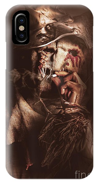 Ghastly iPhone Case - Puffing Billy The Smoking Scarecrow by Jorgo Photography - Wall Art Gallery
