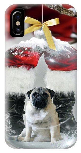 Pug And Santa IPhone Case