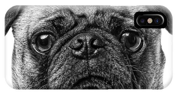 Pug iPhone Case - Pug T-shirt by Edward Fielding