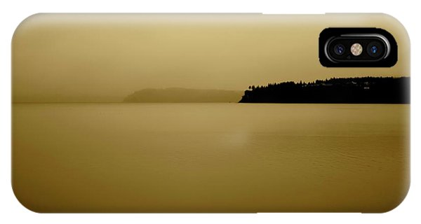 Puget Sound In Sepia IPhone Case