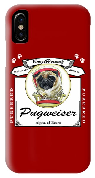 Pugweiser Beer IPhone Case