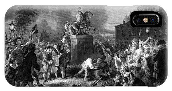 July 4th iPhone Case - Pulling Down The Statue Of George IIi by War Is Hell Store