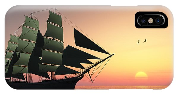 Schooner iPhone Case - Pulse Of Life by Corey Ford