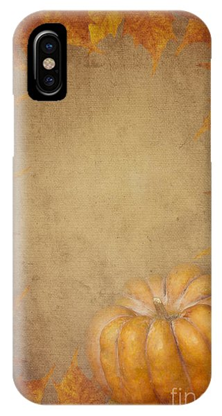 Pumpkin And Maple Leaves IPhone Case