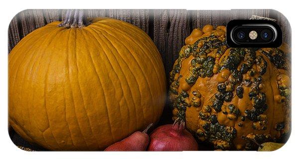Mottled iPhone Case - Pumpkin Autumn Still Life by Garry Gay
