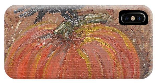 Pumpkin Crow IPhone Case