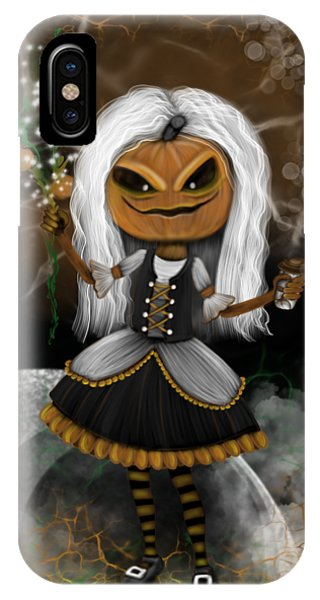 Pumpkin Spice Latte Monster Fantasy Art IPhone Case