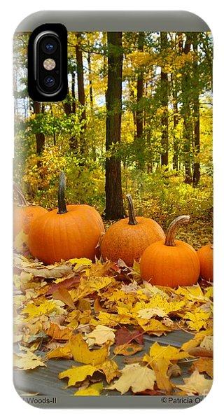 Pumpkins And Woods-ii IPhone Case