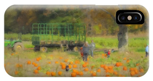 Pumpkins At Langwater Farm IPhone Case