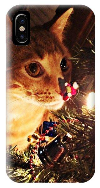 Pumpkin's First Christmas Tree IPhone Case