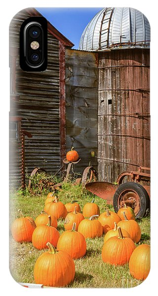 New England Barn iPhone Case - Pumpkins For Sale Old New England Farm by Edward Fielding