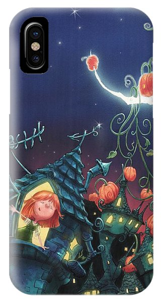 Pumpkins On The Moon IPhone Case