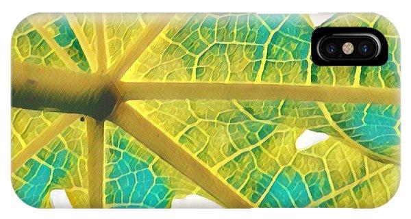 Puna Papaya Leaf IPhone Case