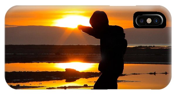 Punching The Sun IPhone Case