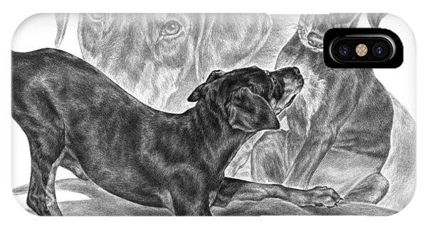 Puppy Love - Doberman Pinscher Pup IPhone Case